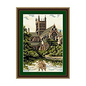 Brigantia Needlework Wells Cathedral Tapestry Picture Kit in Tent Stitch