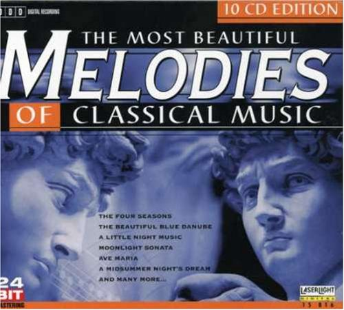 Most Beautiful Melodies Class Music by Antonio Vivaldi, Johann Sebastian Bach, George Frederick Handel, Christoph Willibald Gluck and Wolfgang Amadeus Mozart