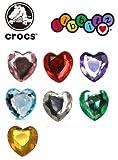 クロックス(crocs) ジビッツ Gems Heart ハート イエロー