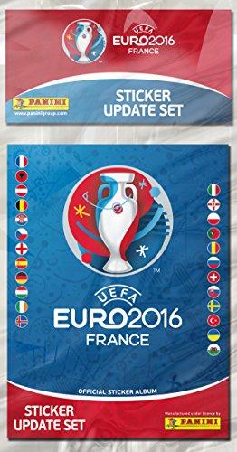 Panini -003028BAGF - Set mise  à Jour - 72 Autocollants - Nouveaux Euro 2016
