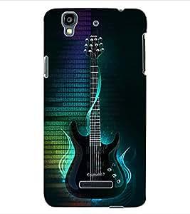 ColourCraft Guitar Back Case Cover for YU YUREKA PLUS