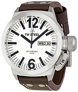 TW Steel Unisex-Armbanduhr Analog leder braun CE1005