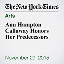 Ann Hampton Callaway Honors Her Predecessors (       UNABRIDGED) by Stephen Holden Narrated by Paul Ryden