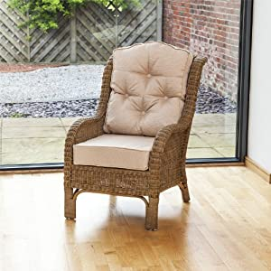 Denver Conservatory Rattan Reading Chair - Abingdon Natural
