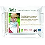 Naty by Nature Babycare ECO Flushable Unscented Wipes - 12 x Packs of 42 (504 Wipes)