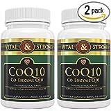 Vital & Strong CoQ10 200mg Ubiquinol High Absorption Coenzyme 60 Count