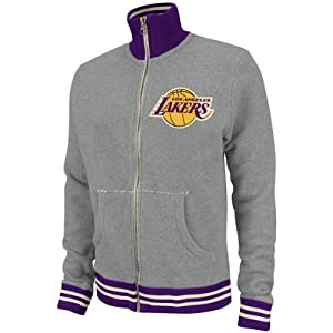 NBA Mitchell & Ness 6026 Vintage French Terry Track Jacket Los Angeles Lakers by Mitchell & Ness
