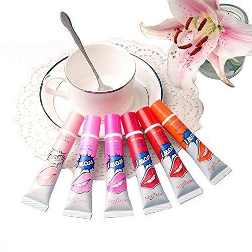 Remeehi Waterproof Women Easy Peel-off Lip Gloss Lipstick Liquid Tint Long Lasting Lip Tattoo Set of 6 Colos by Remeehi