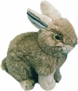 Living Nature Sitting Bunny Rabbit Soft Toy - Grey