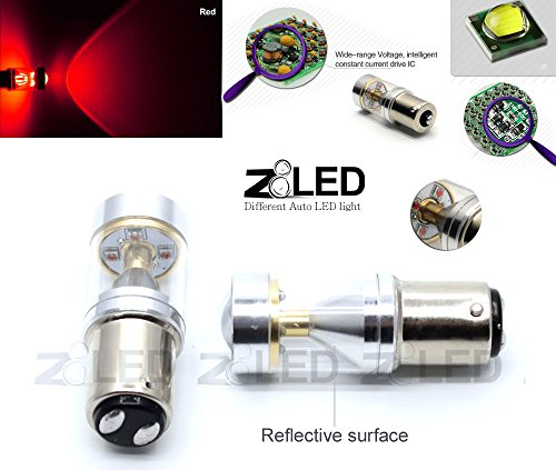 Z8® 2X 1157 Bay15D 30W Cree Xbd High Power Auto Equivalent Led Tail Brake Stop Led Light Tail Bulb Lamp Z8Led 9G1157 (Red)