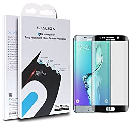 Samsung Galaxy S6 Edge+ Screen Protector: Stalion® Shield Tempered Liquid Glass Shatterproof Full Screen Frame Edge to Edge Armor Guard (Black Sapphire)(for S6 EDGE PLUS ONLY)