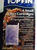 TOP FIN 4 Small Filter Cartridges for Top Fin Power Filter 10
