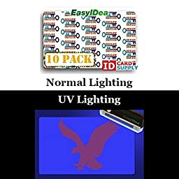10 x Adhesive Holographic Overlay for Standard Size ID Cards | Secure Key Design with UV Eagle