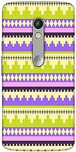 Snoogg Brick Aztec Designer Protective Back Case Cover For Motorola Moto X Play
