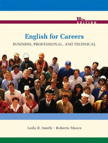 ENGLISH FOR CAREERS with MYWRITINGLAB VP (10th Edition)