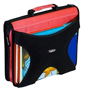 Case-it W350,  2 Inch Round Ring Zipper Binder with Book Holder on Front, 1 unit,Pink, Size - 13 X 12 X 3 inch
