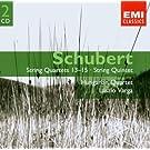 Schubert - Quatuors � cordes 13 � 15 / Quintette � cordes pour 2 violoncelles en do maj. (2CD)