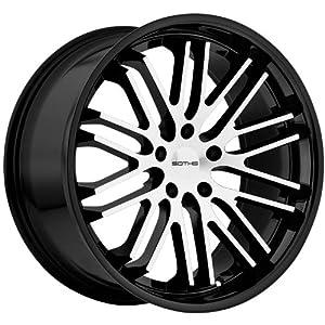 Sothis SC3 22×9.0 Gloss Black & Machined Wheel 5x120mm Bolt Pattern / +20mm Offset / 74.1mm Hub Bore