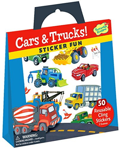 Peaceable Kingdom Sticker Fun! Cars and Trucks Reusable Sticker Tote