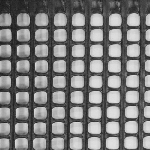 1m x 25m Plastic Mesh Garden Fencing Black (15mm x 15mm square hole). Mesh Fence Netting