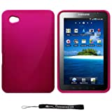 Magenta - Metallic Armor Cover Case / Hard 2 Piece Snap On Feature for New Samsung Galaxy Tab Tablet Device