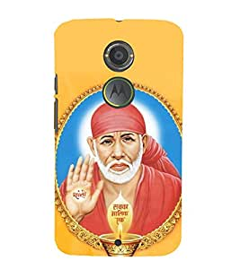 printtech Lord God Saibaba Sainath Back Case Cover for Motorola Moto X2 / Motorola Moto X (2nd Gen)