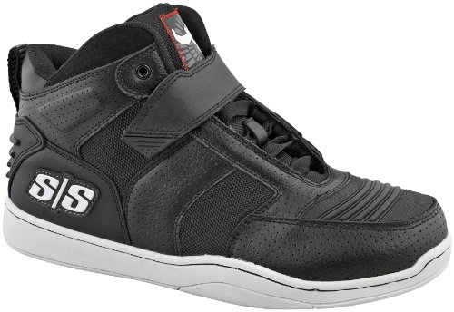 Speed & Strength Mens Run With The Bulls Motorcycle Shoes Black 10