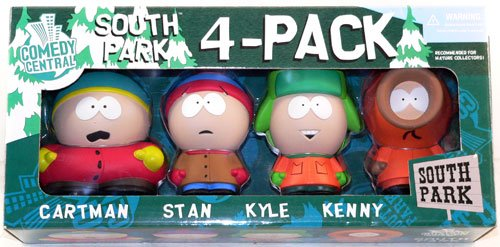 Buy Low Price Mirage Mirage Toys Series 1 South Park 4-Pack Box Set – Includes Cartman, Stan, Kyle and Kenny Figures (B0026SRE8A)