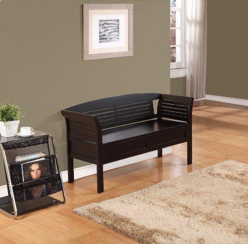 Espresso Foyer Bench : Simpli home arlington entryway storage bench dark