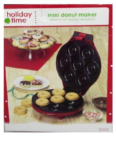 holiday time mini donut maker home garden kitchen dining kitchen appliances toasters grills makers. Black Bedroom Furniture Sets. Home Design Ideas