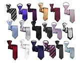 あなたも 簡単 ワンタッチ 細ネクタイ スリムタイ 全18種類 +チーフ 2点セット