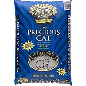 Precious Cat Ultra Premium Clumping Cat Litter, 80 lb Jumbo size (Two x 40 lb Bags)