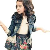 Little Hand Girls Denim Grenadine Princess Coat Jacket