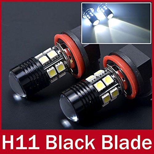 paxten (TM) 2 x CREE haute puissance SMD Projecteur LED H11 Ampoule 12 SMD 5050 brouillard lampe feux de circulation diurnes faible faisceau Blanc