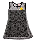 Style Loft Girls' Frock (FROCKS 124_4-5 Years, Black and Grey, 4-5 Years)