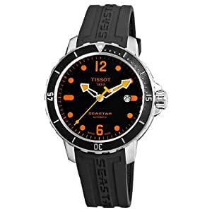Tissot Men's T0664071705701 SeaStar Black Automatic Dial Watch