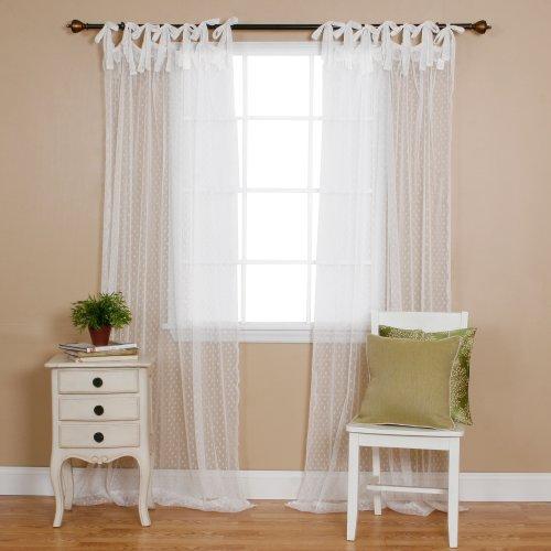 White Kitchen Curtains Amazon Com: Best Home Fashion Swiss Dot Lace Curtains