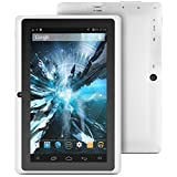 "ProntoTec 7"" Android 4.4 KitKat Tablet PC, Cortex A8 1.2 GHz Dual Core Processor,512MB / 4GB,Dual Camera,G-Sensor (White)"