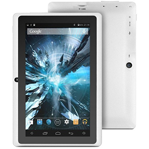 ProntoTec 7 Android 4.4 KitKat Tablet PC, Cortex A8 1.2 GHz Dual Core Processor,512MB / 4GB,Dual Camera,G-Sensor (White)