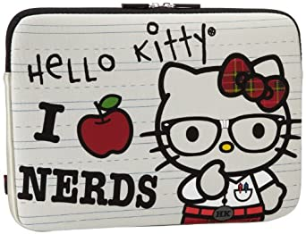 Hello Kitty SANLC0005 Laptop Case,White/Black/Red,One Size