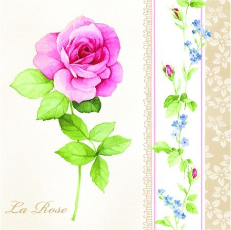 la-rose-pack-of-20-paper-napkins-33x33cm-3ply-floral-decoupage-shabby-chic-by-paw