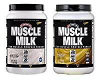 MuscleMilk Choc Peanut Butter 2.47 Pound/Cookies & Crème 2.47 Pound (1 of each) from CytoSport Muscle Milk