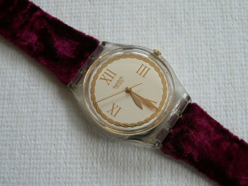 Swatch Vintage 1995 Saint Velours Ladies Watch #GK203 0