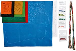 Bucilla 18-Inch Christmas Stocking Felt Applique Kit, Snow Fun