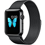 Apple Watch Band 42mm Milanese Mesh Loop Apple Watch Strap With Fully Magnetic Closure Clasp Replacement iWatch Band Bracelet Strap for Apple Watch Sport Edition 42mm Black