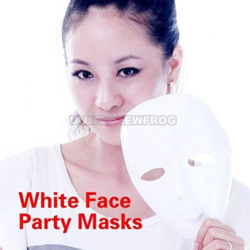[Scary White Face Halloween Masquerade DIY Mime Mask Ball Party Costume Masks UN0] (Scary Mime)