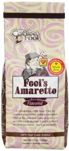The Coffee Fool Fool'S Whole Bean, Amaretto, 12 Ounce