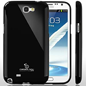 [Drop Protection] Caseology Samsung Galaxy Note 2 [Black] Slim Fit Skin Cover [Shock Absorbent] TPU Bumper Case [Made in Korea] (for Verizon, AT&T Sprint, T-mobile, Unlocked)
