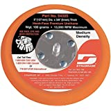 Dynabrade 54325 5-Inch Diameter Hook-Face Short Nap 3/8-Inch Thick Urethane Medium Density 5/16-Inch-24 Male Thread Non-Vacuum Disc Pad, Orange