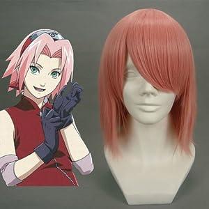 40CM Length Short shimizu raikou/Shugo Chara!-Hinamori Amu Mixed Pink Anime Cosplay wig Cos-002A-1